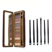 Ucanbe Naked Neutral Eye Shadow Palette with Professional Eyeshadow Applicator 6pcs Eye Makeup Brushes Set