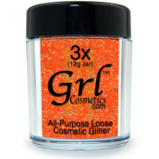 Grl Cosmetics Cosmetic Glitter Makeup for Face, Eyes, Lips, Nails and Body - GL05 Australian Coral, 12 Gramme Jar