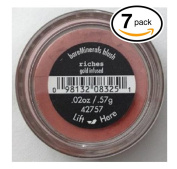 (PACK OF 7) Bare Minerals / Bare Escentuals RICHES (42757) Blush Makeup. Gold Infused! WARM EARTH PINK. Ideal for ALL Skin Types.