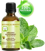 PEPPERMINT ESSENTIAL OIL ORGANIC. 100% Pure Therapeutic Grade, Premium Quality, Undiluted. 0.5 Fl.oz.- 15 ml. by Botanical Beauty.