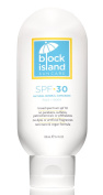 Block Island Organics - Natural Mineral Sunscreen SPF 30 - Broad Spectrum UVA UVB Protection - Non-Nano Zinc - Lightweight Non-Greasy Sunblock - EWG Top Rated - Non-Toxic - Made in USA 100ml