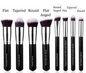 Essencell Makeup Brushes Premium Synthetic Kabuki Cosmetic Makeup Brush Set - Foundation,Powder, Blending Blush / Bronzer, Concealer / Contour, Eye Shadow Brush Kit