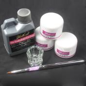 Pro Simply Nail Art Kits 120ml Acrylic Liquid Powder Pen Dappen dish Tools set USA Shipping