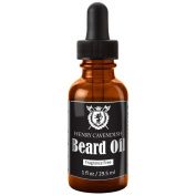 Henry Cavendish Beard Oil. Fragrance Free. With Organic Jojoba, Sunflower, Shea and Argon Oils