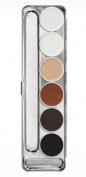 Kryolan 1107 Aquacolor Palette 6 Colours *Brand New Colours* SPI