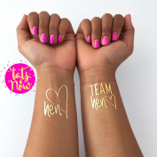Set of 16 Bachelorette Party, bachelorette tattoo, TEAM HEN, bridal party, bridesmaid tattoo, bride, hens party, wedding party