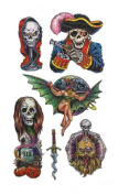Pirate Skull Temporary Tattoos