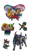 Mexican Fiesta Party Temporary Tattoos