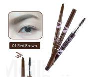 Mei Linda Sweet Lady Waterproof Brow Liner with Blush #01 Red Brown