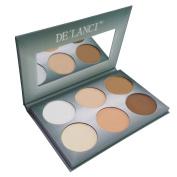 DE'LANCI Pro 6 Colours Powder Contour Palette Wam Colour Face Foundation Makeup Set Highlighting and Contouring Kit Coverage Camouflage Concealer Foundation Make Up Palette - Gift Set