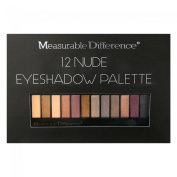 Measurable Difference 12 Nude Eyeshadow Palette  New In Box