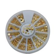 Gold Decorations nail 3D