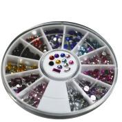 3D nail Glitter stone decoration