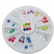 Round Design Candy colour nail art