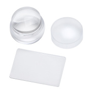 Beauty Clubs Transparent Nail Art Stamping Stamper Scraper Image Plate Manicure Print Tool DIY