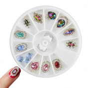 3d DIY Charm Gem Rhinestone Nail Art Jewellery Rainbow Women Nail
