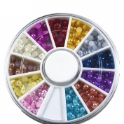 3d Glitter Nail Art Tips Rhinestones Bead Decorations