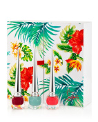 Christian Louboutin Beaute Hawaii Kawai Collection I Limited Edition Miniature Nail Trio