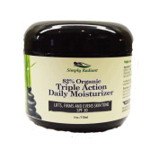 Best Organic Triple Action Anti-Ageing Daily Face Moisturiser SPF 30 with Green Tea, Algae Extract, Antioxidants and Vitamins for healthy, youthful skin.