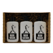 Man Stuff Gift Set - Bath and Body for Men - Wash, Lotion, and Shave