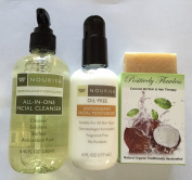 Trader Joe's Facial Cleanser, Facial Moisturiser & Positively Flawless Raw Sugar Exfoliator - Exfoliator Kit
