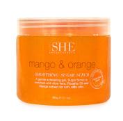 om SHE Aromatherapy Mango & Orange Smoothing Sugar Scrub 500g/ 620ml