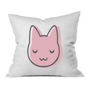 Oh, Susannah Pink Cat 46cm x 46cm Throw Pillow Cover