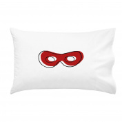 OH, SUSANNAH Superhero Mask Pillowcase RED 50cm x 80cm Pillow Case