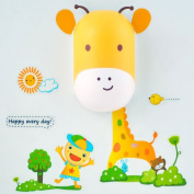 B & Y Kids Small Night Light LED Light and PVC Wall Stick Cute Aniaml with Sensor