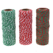 Cosmos ® Cotton Baker's Twine Cording, 3 Roll Assorted Colours
