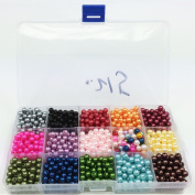Efivs Arts 1000pcs Multicolor Beads Cube Charms for DIY Bracelets,Necklaces, Key Chains and Kid Jewellery Bead Box Kit,J001