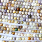 Fashiontrenda Natural Colour 3mm Gemstones Round Loose Beads Findings DIY Jewerlry Making