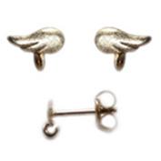 Amoracast Exclusive Gold Vermeille Ear Stud Wings with Loop