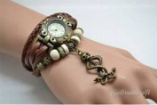 Wrist Watch,skull Mark and Snake Nagini Charms Bracelet-- Deathly Hallows Charms Leather Bracelet