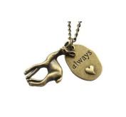Bronze Always, Deer, Heart Necklace,Necklace,Jewellery