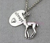 Deer, Always,Necklace, Snape and Lily Patronus Necklace, Heart, Christmas Gift, Bridesmaid Gift, Friendship, Graduation Gift