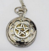 Watch Necklace Pendant Deathly Hallows Charm Men's Pocket Watch Pocket Watch Necklace Deathly Hallows Pendant Simple Round
