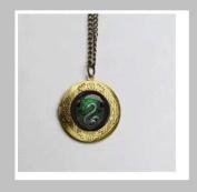Salazar Slytherin Snake Vintage Pendant Locket Necklace ,Salazar Slytherin Snake Pendant Vintage Pendant Locket Necklace