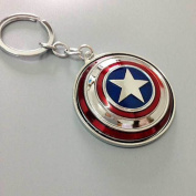 Captain America Shield Keychain - Silver Colour