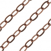 Nunn Design Bulk Chain, Textured Cable Chain 2.5mm, 0.3m, Antiqued Copper