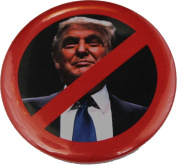 Not Trump, Anti Donald Trump Pin Set, 5.7cm Pin + 7.6cm - 2.5cm Pins, Anti Trump USA