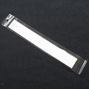 Chenkou Craft 50Set White Bracelet Jewellery Display Hanging Cards W/Self Adhesive Bag 27.5CM