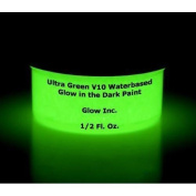 Ultra Green V10 Glow in the Dark Paint 30ml New