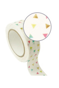 White Masking Tape 1,5 cm x 10 m - multicoloured triangles