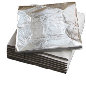 100 sheets 16 X 16cm Imitation silver leaf sheet foil aluminium leaf.