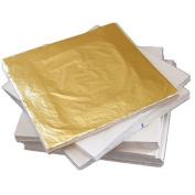 100 sheets 16X16cm Imitation gold leaf foil copper leaf Luxurious.