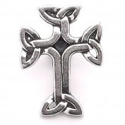 Celtic 3D Cross Line 24 Snap Cap Black Epoxy 2.5cm 1265-20