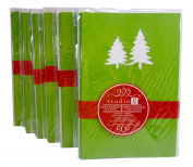 Studio G Green Christmas Tree Cut-Out Cards & Envelopes for Crafting, (8)/Pkg., Pack of