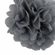 DooXoo 25cm Tissue Paper Pom-poms Flower Ball Wedding Party Outdoor Decoration Grey Set of 10