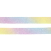 Konishi ribbon pastel rainbow pattern double satin ribbon KR3571-18MM-1 18mm width×30m winding